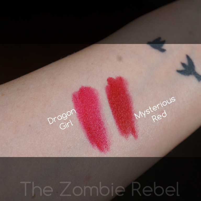 NARS Dragon Girl Vs Mysterious Red | The Zombie Rebel
