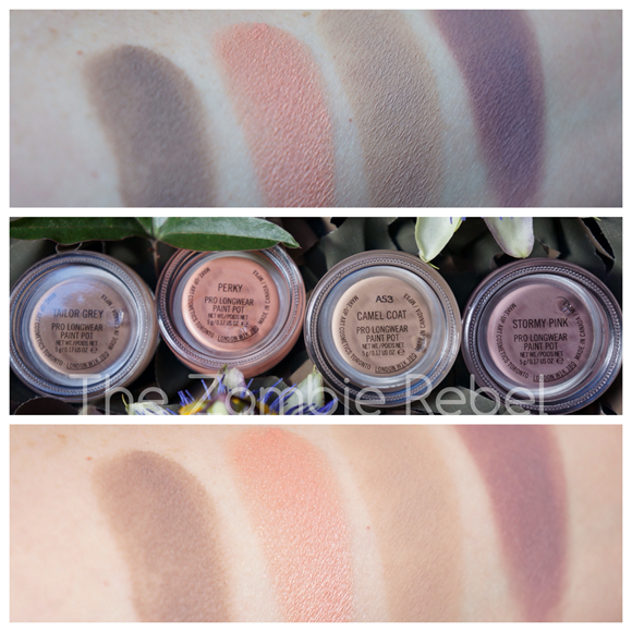 MAC Pro Longwear Paint Pots swatches (1)