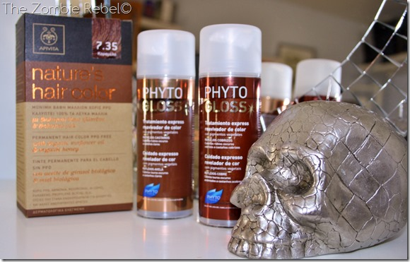 The zombie Rebel - Apivita Nature Hair Color Phyto Phytogloss
