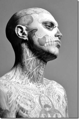 Zombie Boy look - The Zombie Rebel Halloween Skull (1)