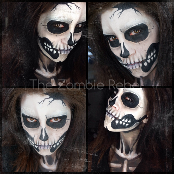 zombie boy inspired look the zombie rebel halloween skull