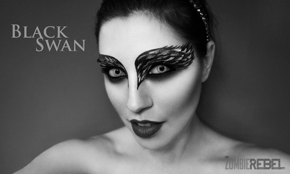 The-Zombie-Rebel-Black-Swan-Makeup-Cisne-Negro-cabeceraBW